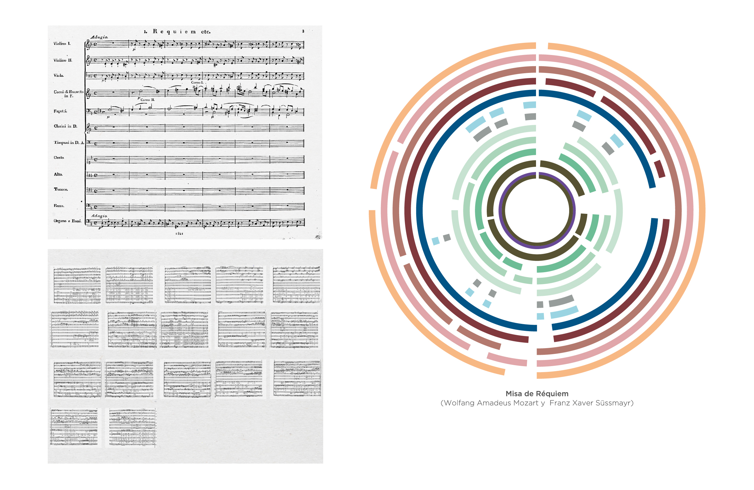 Data visualizations about music, third case study, circular graph