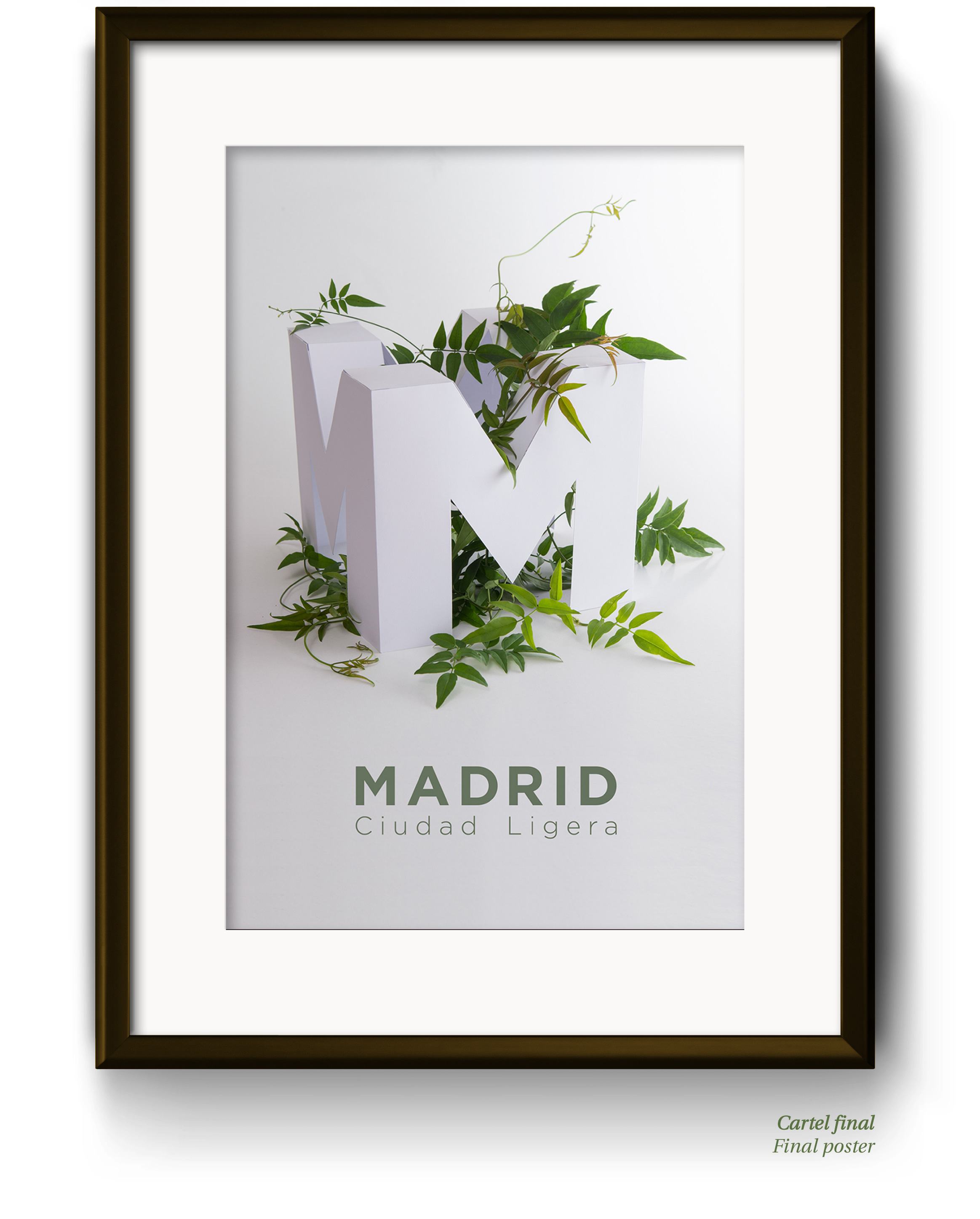 Handcrafted paper model poster