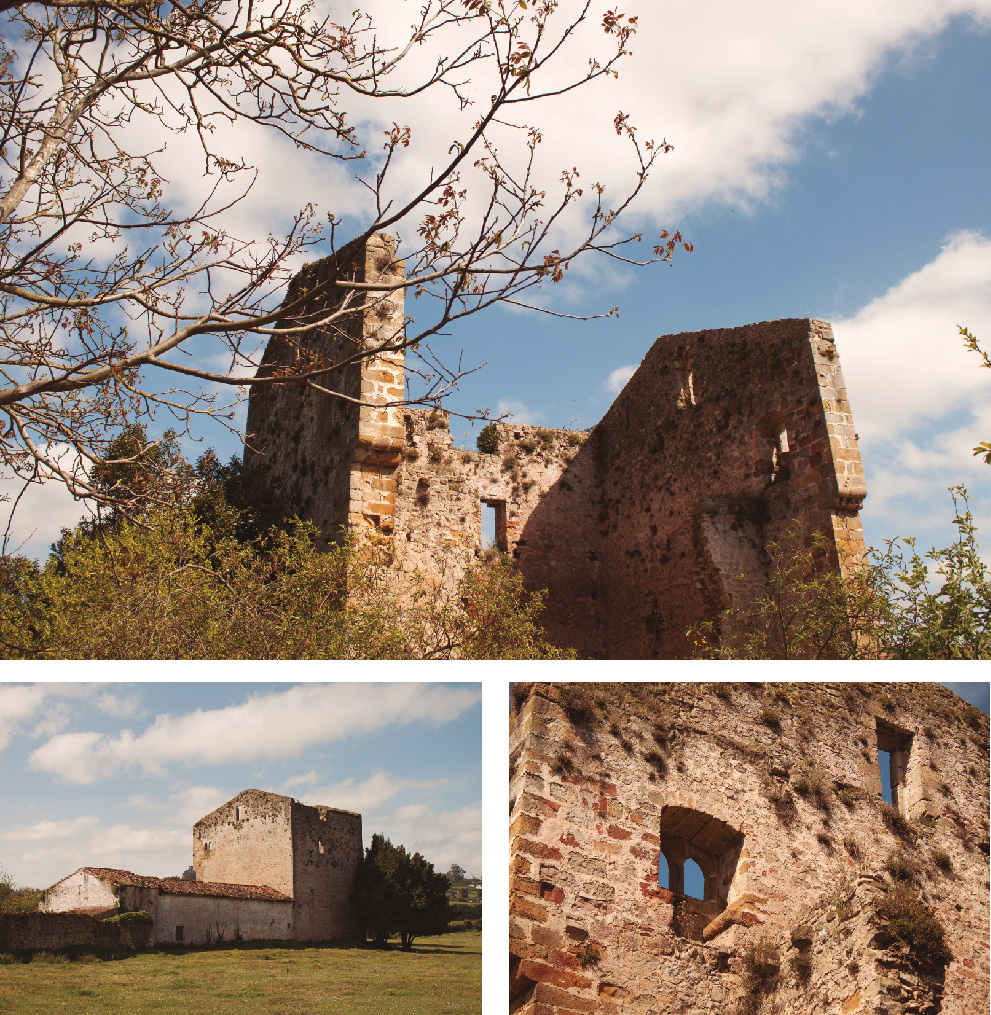 Customize photographies about the Castle near the Roman Villa of Veranes, in Asturias, Spain.
