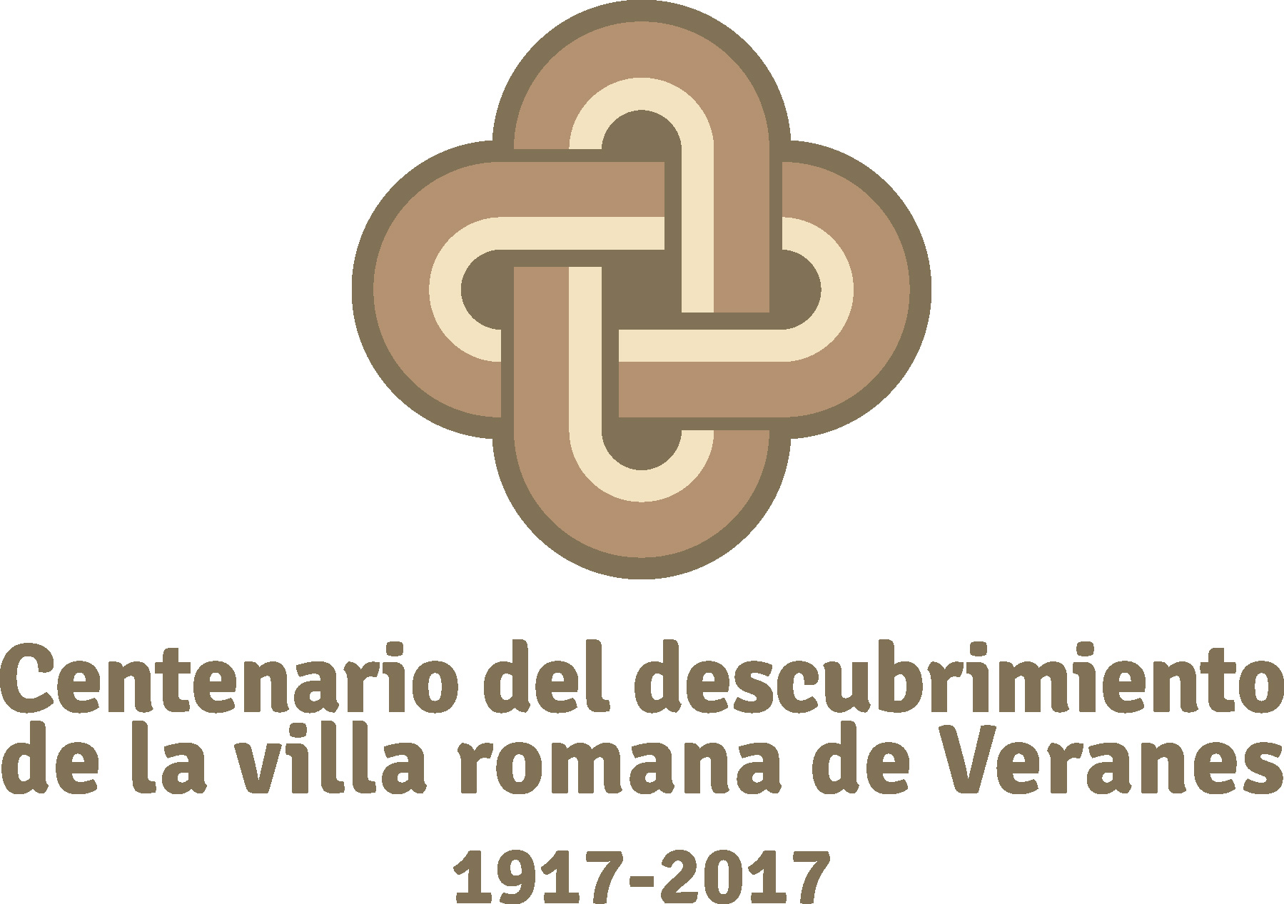 Customized logotype to commemorate the event of the roman ruins of Veranes
